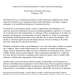 Proposal for National Standards to Guide Transmission Planning