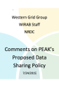 WGG, WIRAB, NRDC on PEAK's proposed data sharing policy